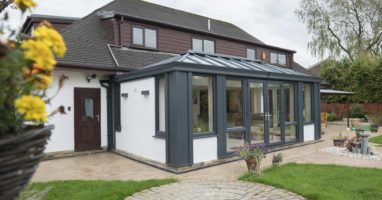 modern replacement solid roof weybridge