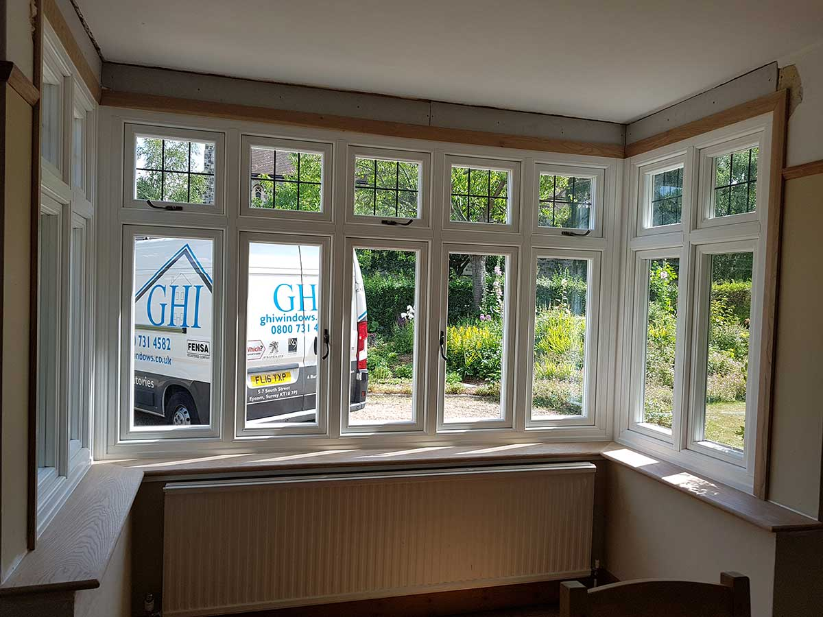 Casement Window with Decorative Glass Weybridge