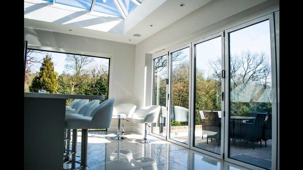 Modern Aluminium BiFold Door Weybridge