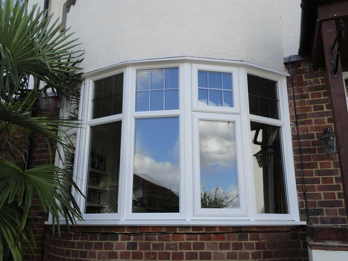 White Double glazing Windows Epsom