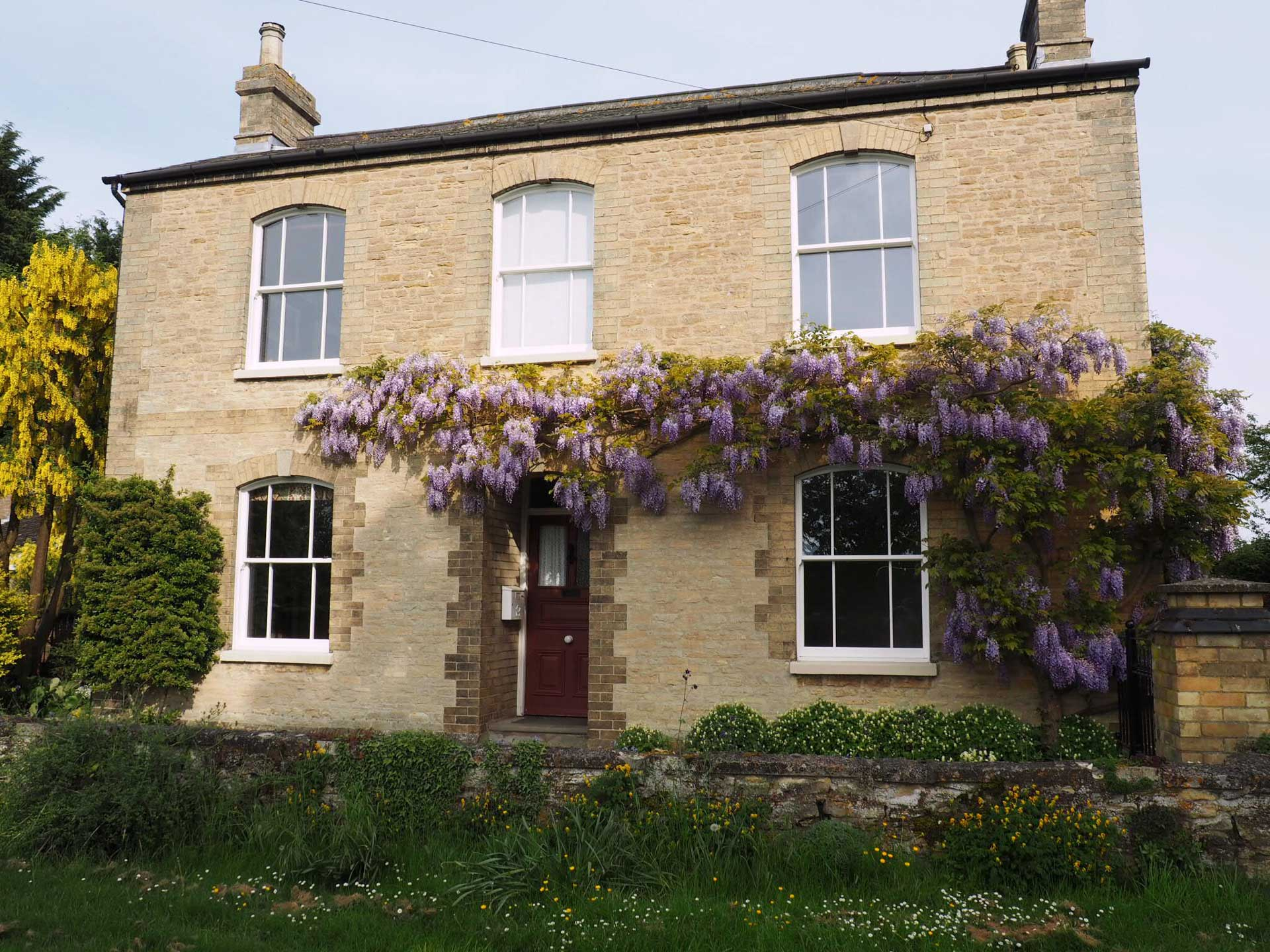 House with Sliding Sash Windows