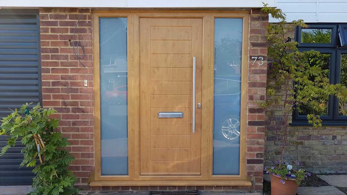 Composite Door with Side Panels