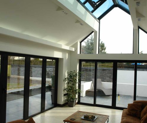 modern aluminium doors in weybridge