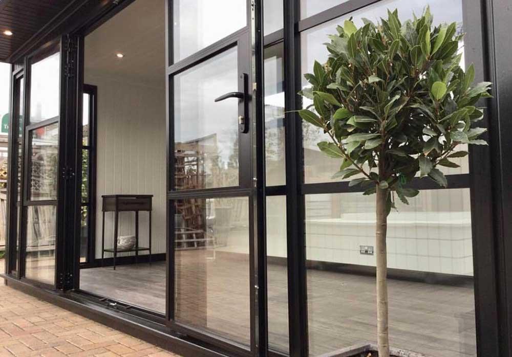 steel look windows installed in esher