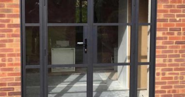 coloured aluminium doors surrey